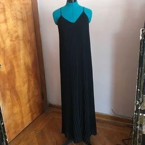 Victoria's Secret black knife pleat maxi dress